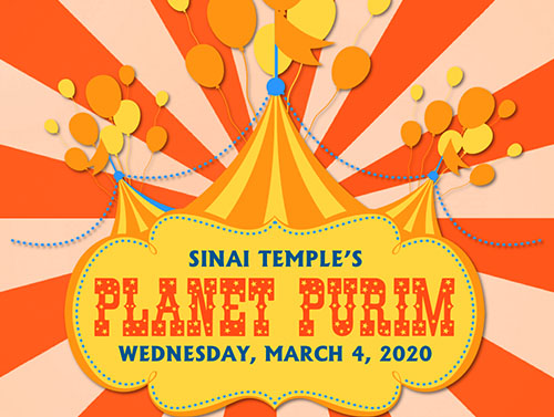 Sinai Temple's Planet Purim - Weds March 4, 2020
